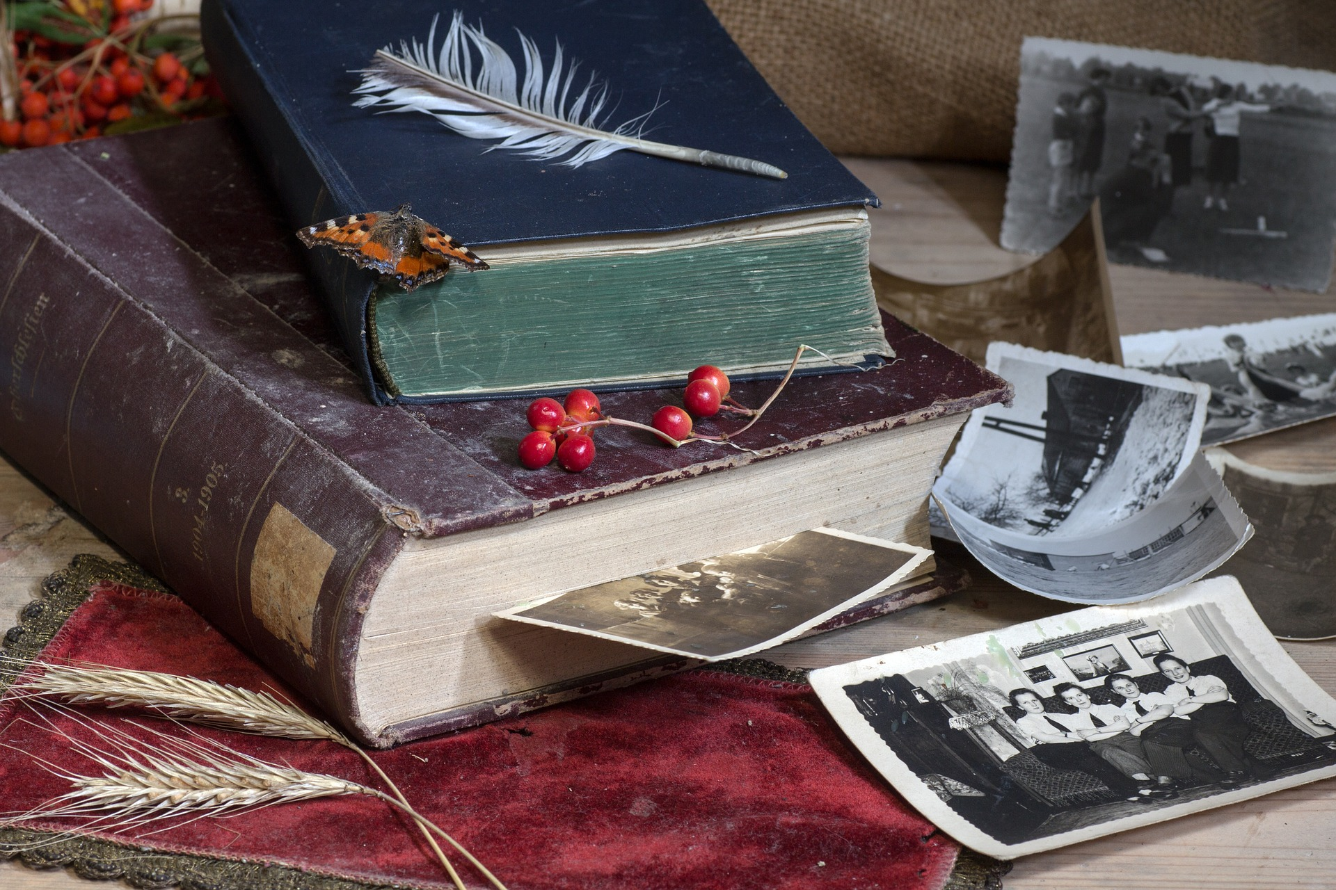 livre, photos et souvenirs