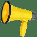 mégaphone jaune